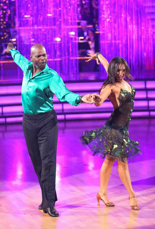 Retired NFL star Emmitt Smith and his partner Cheryl Burke returned to the ballroom for the &#39;Dancing With The Stars: All-Stars&#39; finale on November 27, 2012. <span class=meta>(ABC Photo&#47; Adam Taylor)</span>