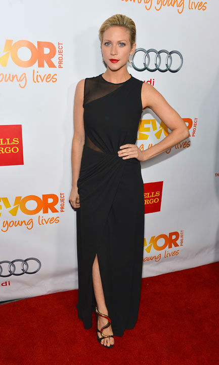 Brittany Snow attends the Trevor Project's...