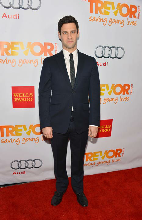 Justin Bartha attends the Trevor Project's 'Trevor Live' in Los Angeles on Sunday, Dec. 2, 2012.