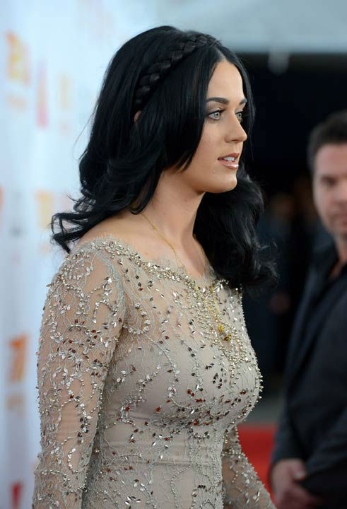 Katy Perry attends the Trevor Project's 'Trevor Live' in Los Angeles on Sunday, Dec. 2, 2012.