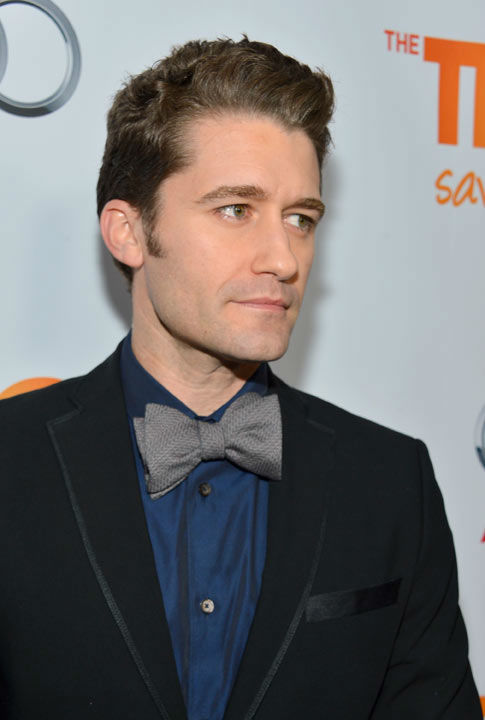Matthew Morrison attends the Trevor Project's 'Trevor Live' in Los Angeles on Sunday, Dec. 2, 2012.