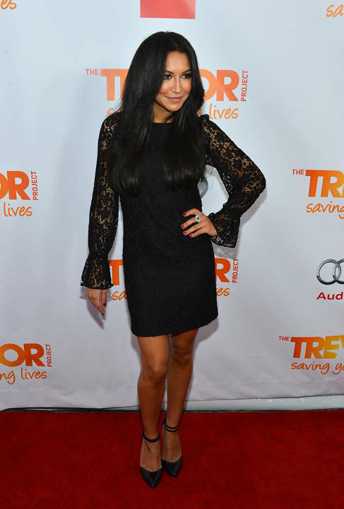 "<div class=""meta ""><span class=""caption-text "">Naya Rivera attends the Trevor Project's 'Trevor Live' in Los Angeles on Sunday, Dec. 2, 2012. (Getty Images for Trevor Project)</span></div>"
