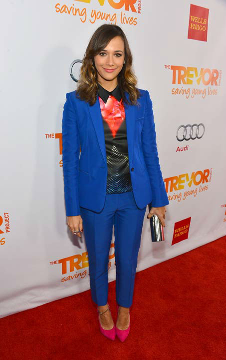 Rashida Jones attends the Trevor Project's 'Trevor Live' in Los Angeles on Sunday, Dec. 2, 2012.