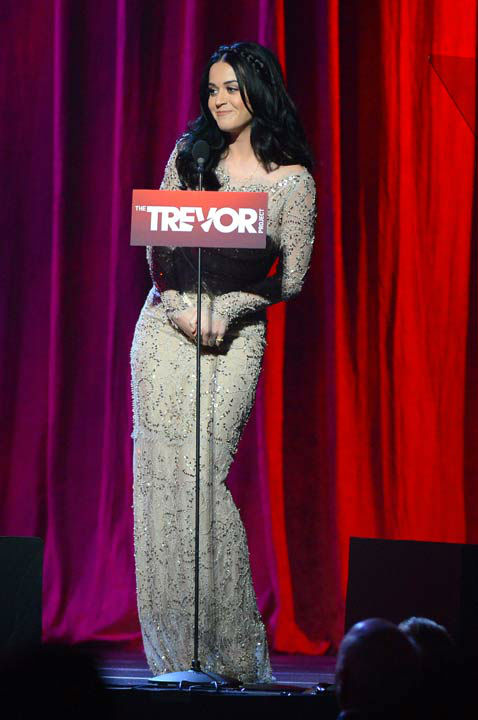 Katy Perry attends the Trevor Project&#39;s &#39;Trevor Live&#39; in Los Angeles on Sunday, Dec. 2, 2012. <span class=meta>(Getty Images for Trevor Project)</span>