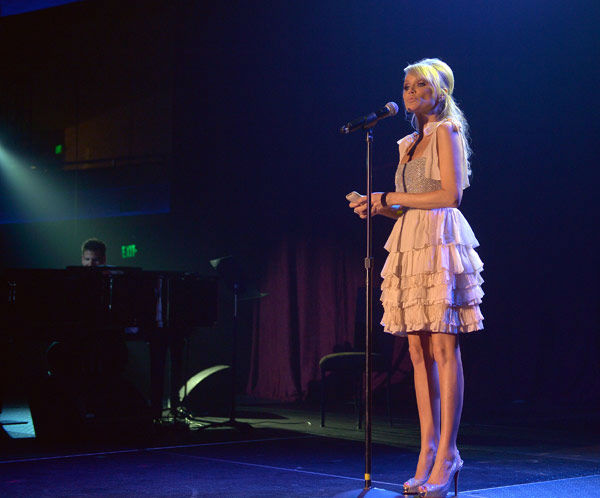Kristen Chenoweth attends the Trevor Project's 'Trevor Live' in Los Angeles on Sunday, Dec. 2, 2012.