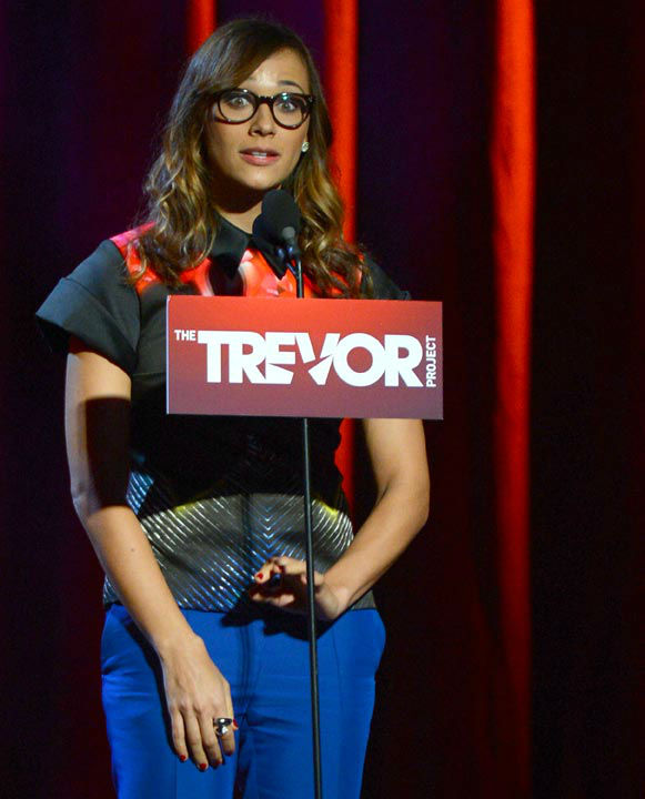 Rashida Jones attends the Trevor Project&#39;s &#39;Trevor Live&#39; in Los Angeles on Sunday, Dec. 2, 2012. <span class=meta>(Getty Images for Trevor Project)</span>