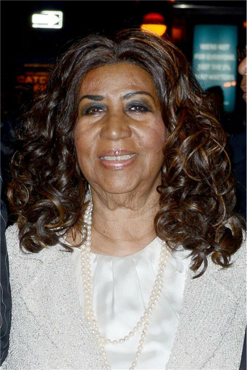 Aretha Franklin arrives at the 30th annual Night of Stars gala in New York on Oct. 22, 2013.