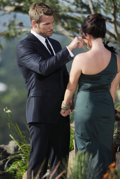 "<div class=""meta ""><span class=""caption-text "">Brad Womack wipes away tear after breaking the news to Chantal O'Brien that she will not be receiving the final rose on the season 15 finale of 'The Bachelor,' which aired on Monday, March 14.  (ABC Photo/ Mark Wessels)</span></div>"