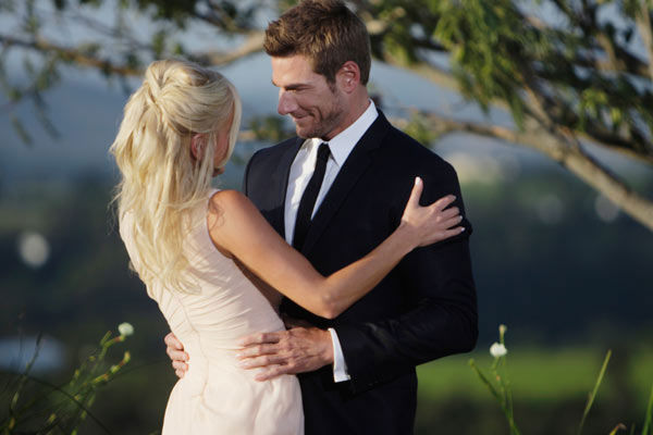 Brad Womack is happy to see his final choice, Emily Maynard  on the season 15 finale of 'The Bachelor,' which aired on Monday, March 14.