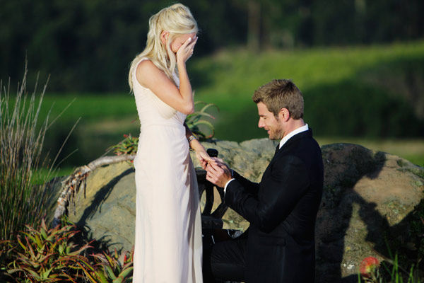 "<div class=""meta image-caption""><div class=""origin-logo origin-image ""><span></span></div><span class=""caption-text"">Brad Womack proposes to Emily Maynard with a Neil Lane engagement ring on the season 15 finale of 'The Bachelor,' which aired on Monday, March 14.   (ABC Photo/ Mark Wessels)</span></div>"