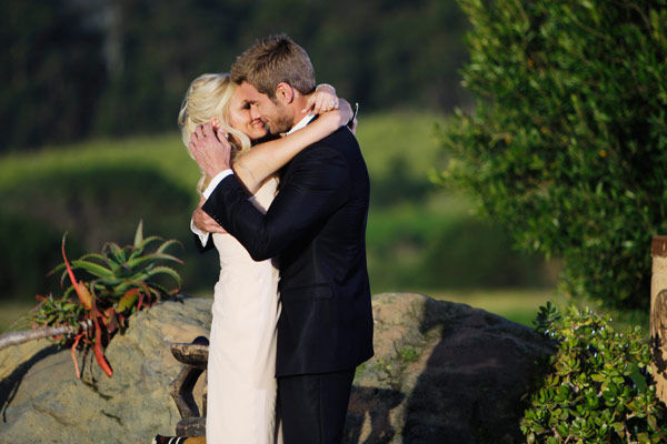 "<div class=""meta ""><span class=""caption-text "">Brad Womack gives his future wife, Emily Maynard a big kiss on the season 15 finale of 'The Bachelor,' which aired on Monday, March 14.  (ABC Photo/ Mark Wessels)</span></div>"