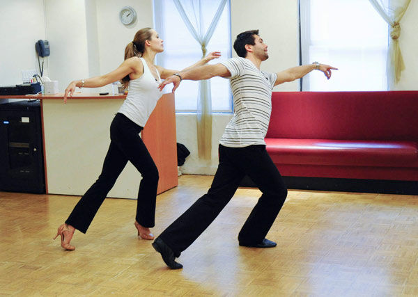"<div class=""meta ""><span class=""caption-text "">Petra Nemcova, supermodel and founder of the Happy Hearts Fund after surviving the 2004 tsunami in Thaliand, gets synchronized with partner Dmitry Chaplin during rehearsal for season 12 of 'Dancing with the Stars,' premieres on March 21 at 8 p.m. on ABC. (Photo/Donna Svennevik)</span></div>"