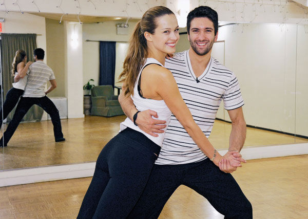 Petra Nemcova, supermodel and founder of the Happy Hearts Fund after surviving the 2004 tsunami in Thaliand, gets some support from partner Dmitry Chaplin during rehearsal for season 12 of &#39;Dancing with the Stars,&#39; premieres on March 21 at 8 p.m. on ABC. <span class=meta>(Photo&#47;Donna Svennevik)</span>