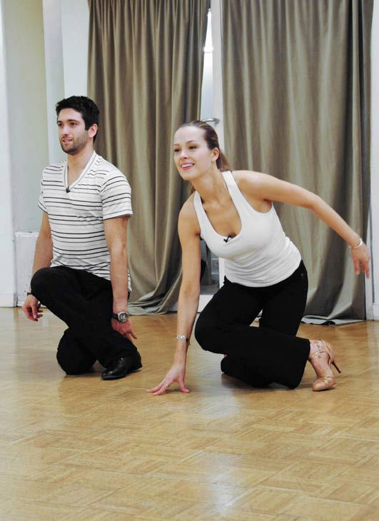 Petra Nemcova, supermodel and founder of the Happy Hearts Fund after surviving the 2004 tsunami in Thaliand, gets some floor time with partner Dmitry Chaplin during rehearsal for season 12 of &#39;Dancing with the Stars,&#39; premieres on March 21 at 8 p.m. on ABC. <span class=meta>(Photo&#47;Donna Svennevik)</span>