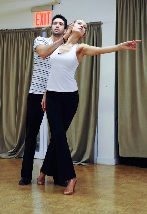 Petra Nemcova, supermodel and founder of the Happy Hearts Fund after surviving the 2004 tsunami in Thaliand, prepares for her dancing debut with partner Dmitry Chaplin during rehearsal for season 12 of &#39;Dancing with the Stars,&#39; premieres on March 21 at 8 p.m. on ABC. <span class=meta>(Photo&#47;Donna Svennevik)</span>