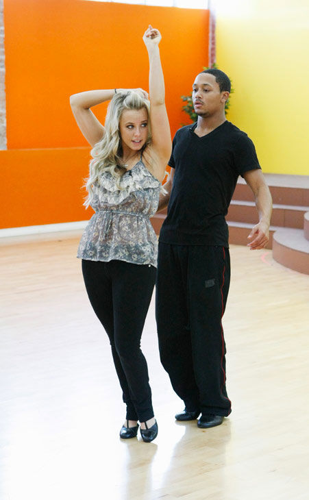 Romeo, Grammy Award-winning entertainer and CEO of No Limit Forever record company, gets his dance on with partner Chelsie Hightower during rehearsal for season 12 of &#39;Dancing with the Stars,&#39; premieres on March 21 at 8 p.m. on ABC. <span class=meta>(Photo&#47;Rick Rowell)</span>