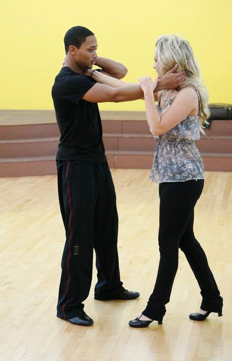 Romeo, Grammy Award-winning entertainer and CEO of No Limit Forever record company, gets his arm positioning down with partner Chelsie Hightower during rehearsal for season 12 of &#39;Dancing with the Stars,&#39; premieres on March 21 at 8 p.m. on ABC. <span class=meta>(Photo&#47;Rick Rowell)</span>