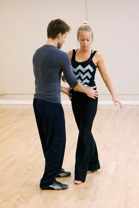 Kendra Wilkinson, reality star of E!&#39;s &#39;Kendra&#39; and formerly &#39;The Girls Next Door,&#39; gets some pointers from partner Louis Van Amstel during rehearsal for season 12 of &#39;Dancing with the Stars,&#39; premieres on March 21 at 8 p.m. on ABC. <span class=meta>(Photo&#47;Rick Rowell)</span>