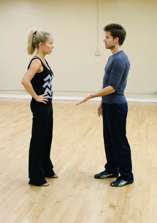 "<div class=""meta ""><span class=""caption-text "">Kendra Wilkinson, reality star of E!'s 'Kendra' and formerly 'The Girls Next Door,' gets some pointers from partner Louis Van Amstel during rehearsal for season 12 of 'Dancing with the Stars,' premieres on March 21 at 8 p.m. on ABC. (Photo/Rick Rowell)</span></div>"