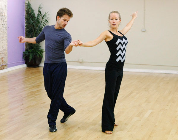 "<div class=""meta ""><span class=""caption-text "">Kendra Wilkinson, reality star of E!'s 'Kendra' and formerly 'The Girls Next Door,' gets excited for her dancing debut with partner Louis Van Amstel during rehearsal for season 12 of 'Dancing with the Stars,' premieres on March 21 at 8 p.m. on ABC. (Photo/Rick Rowell)</span></div>"