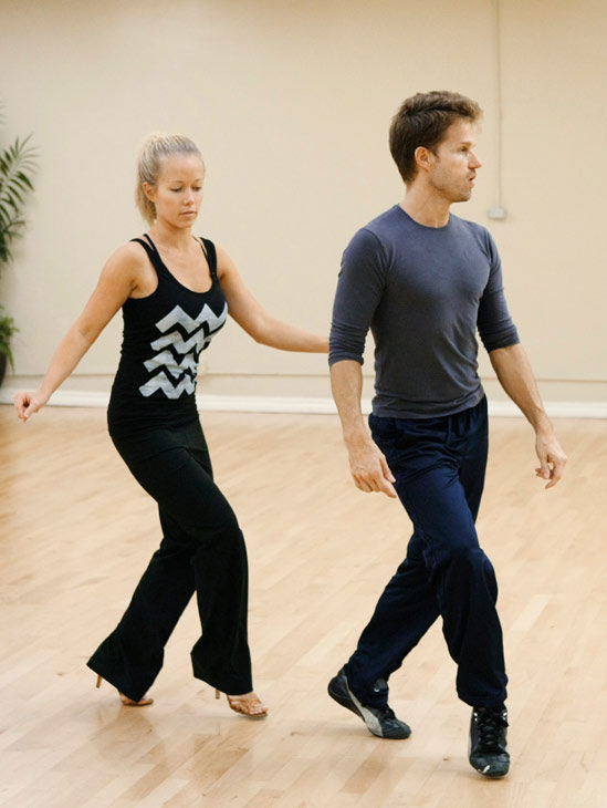 Kendra Wilkinson, reality star of E!&#39;s &#39;Kendra&#39; and formerly &#39;The Girls Next Door,&#39; follows the lead of partner Louis Van Amstel during rehearsal for season 12 of &#39;Dancing with the Stars,&#39; premieres on March 21 at 8 p.m. on ABC. <span class=meta>(Photo&#47;Rick Rowell)</span>