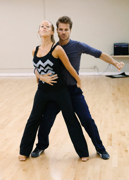 Kendra Wilkinson, reality star of E!&#39;s &#39;Kendra&#39; and formerly &#39;The Girls Next Door,&#39; gets gripped by partner Louis Van Amstel during rehearsal for season 12 of &#39;Dancing with the Stars,&#39; premieres on March 21 at 8 p.m. on ABC. <span class=meta>(Photo&#47;Rick Rowell)</span>