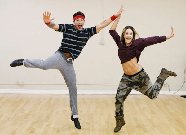 &#39;Psycho&#39; Mike Catherwood, KROQ-FM and Loveline Radio co-cost, gets goofy with partner Lacey Schwimmer during rehearsal for season 12 of &#39;Dancing with the Stars,&#39; premieres on March 21 at 8 p.m. on ABC. <span class=meta>(Photo&#47;Rick Rowell)</span>