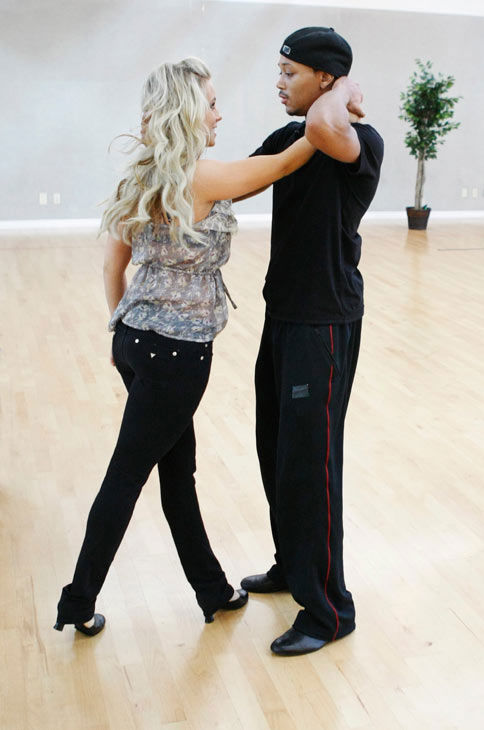 Romeo, Grammy Award-winning entertainer and CEO of No Limit Forever record company, gets his dancing pose right with partner Chelsie Hightower during rehearsal for season 12 of &#39;Dancing with the Stars,&#39; premieres on March 21 at 8 p.m. on ABC. <span class=meta>(Photo&#47;Rick Rowell)</span>