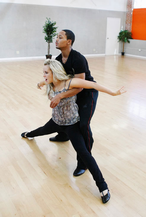 "<div class=""meta image-caption""><div class=""origin-logo origin-image ""><span></span></div><span class=""caption-text"">Romeo, Grammy Award-winning entertainer and CEO of No Limit Forever record company, supports his partner Chelsie Hightower during rehearsal for season 12 of 'Dancing with the Stars,' premieres on March 21 at 8 p.m. on ABC.  (Photo/Rick Rowell)</span></div>"