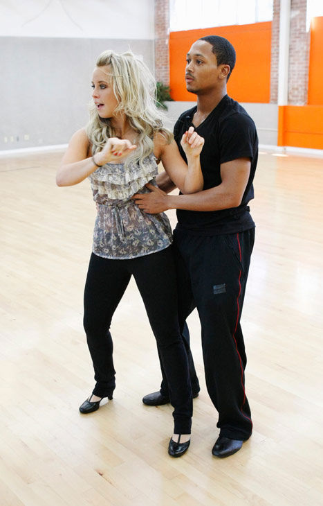 Romeo, Grammy Award-winning entertainer and CEO of No Limit Forever record company, gets a grip on his partner Chelsie Hightower during rehearsal for season 12 of &#39;Dancing with the Stars,&#39; premieres on March 21 at 8 p.m. on ABC. <span class=meta>(Photo&#47;Rick Rowell)</span>