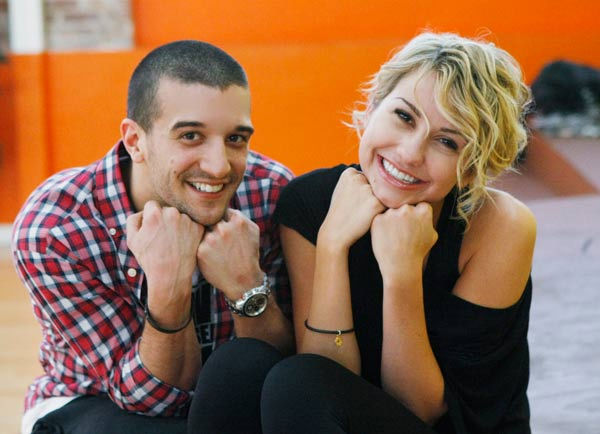 "<div class=""meta ""><span class=""caption-text "">Chelsea Kane, star of 'The Homes' web series and voice of Bea in Disney's 'Fish Hooks,' gets her glamour shots on with partner Mark Ballas during rehearsal for season 12 of 'Dancing with the Stars,' premieres on March 21 at 8 p.m. on ABC. (Photo/Rick Rowell)</span></div>"