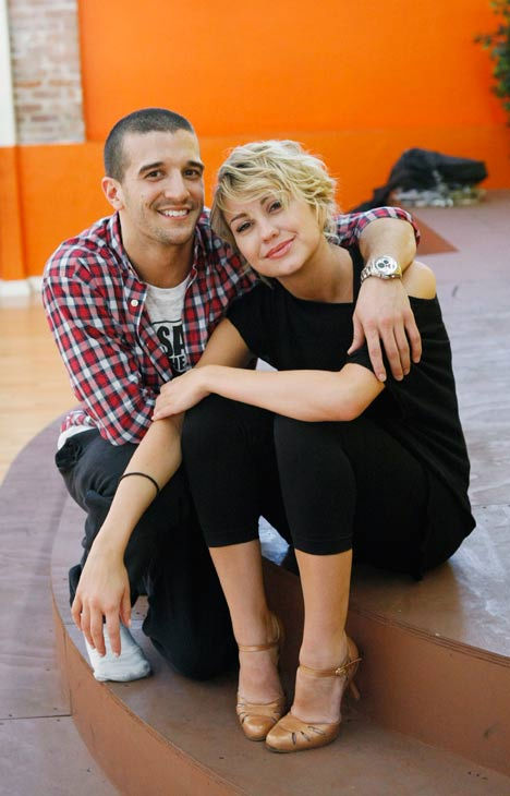 Chelsea Kane, star of &#39;The Homes&#39; web series and voice of Bea in Disney&#39;s &#39;Fish Hooks,&#39; gets cozy with partner Mark Ballas during rehearsal for season 12 of &#39;Dancing with the Stars,&#39; premieres on March 21 at 8 p.m. on ABC. <span class=meta>(Photo&#47;Rick Rowell)</span>