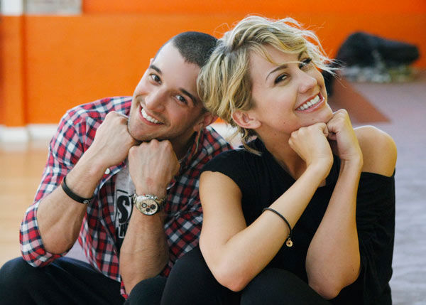 Chelsea Kane, star of &#39;The Homes&#39; web series and voice of Bea in Disney&#39;s &#39;Fish Hooks,&#39; strikes a pose with partner Mark Ballas during rehearsal for season 12 of &#39;Dancing with the Stars,&#39; premieres on March 21 at 8 p.m. on ABC.  <span class=meta>(Photo&#47;Rick Rowell)</span>