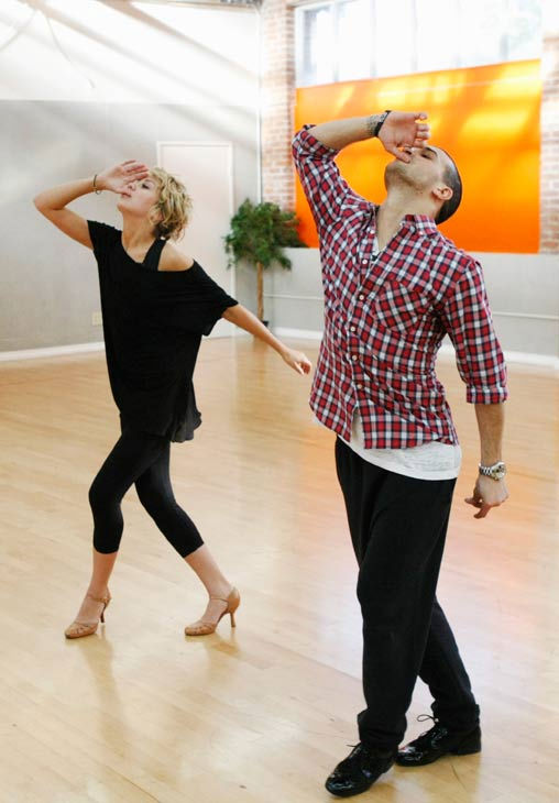 "<div class=""meta ""><span class=""caption-text "">Chelsea Kane, star of 'The Homes' web series and voice of Bea in Disney's 'Fish Hooks,' practices their dramatic arm movements with partner Mark Ballas during rehearsal for season 12 of 'Dancing with the Stars,' premieres on March 21 at 8 p.m. on ABC. (Photo/Rick Rowell)</span></div>"