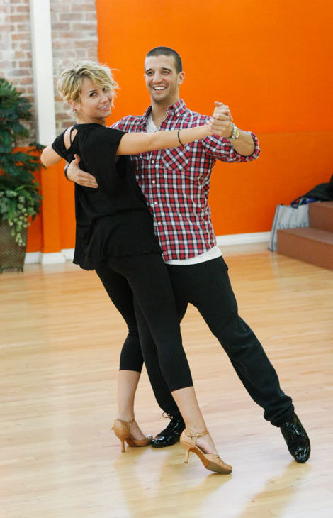 Chelsea Kane, star of &#39;The Homes&#39; web series and voice of Bea in Disney&#39;s &#39;Fish Hooks,&#39; practices her dancing moves with partner Mark Ballas during rehearsal for season 12 of &#39;Dancing with the Stars,&#39; premieres on March 21 at 8 p.m. on ABC. <span class=meta>(Photo&#47;Rick Rowell)</span>