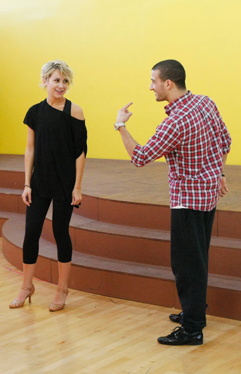 Chelsea Kane, star of &#39;The Homes&#39; web series and voice of Bea in Disney&#39;s &#39;Fish Hooks,&#39; gets schooled by partner Mark Ballas during rehearsal for season 12 of &#39;Dancing with the Stars,&#39; premieres on March 21 at 8 p.m. on ABC. <span class=meta>(Photo&#47;Rick Rowell)</span>