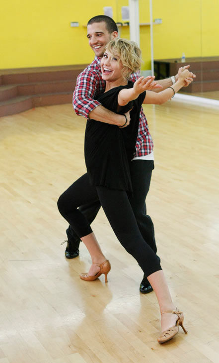 "<div class=""meta ""><span class=""caption-text "">Chelsea Kane, star of 'The Homes' web series and voice of Bea in Disney's 'Fish Hooks,' gets some support from partner Mark Ballas during rehearsal for season 12 of 'Dancing with the Stars,' premieres on March 21 at 8 p.m. on ABC. (Photo/Rick Rowell)</span></div>"