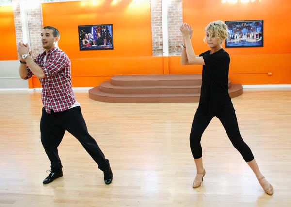 "<div class=""meta ""><span class=""caption-text "">Chelsea Kane, star of 'The Homes' web series and voice of Bea in Disney's 'Fish Hooks,' practices her hand jive with partner Mark Ballas during rehearsal for season 12 of 'Dancing with the Stars,' premieres on March 21 at 8 p.m. on ABC. (Photo/Rick Rowell)</span></div>"