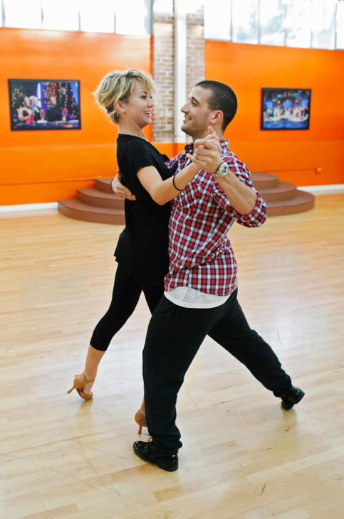 "<div class=""meta ""><span class=""caption-text "">Chelsea Kane, star of 'The Homes' web series and voice of Bea in Disney's 'Fish Hooks,' gets close to her partner Mark Ballas during rehearsal for season 12 of 'Dancing with the Stars,' premieres on March 21 at 8 p.m. on ABC. (Photo/Rick Rowell)</span></div>"