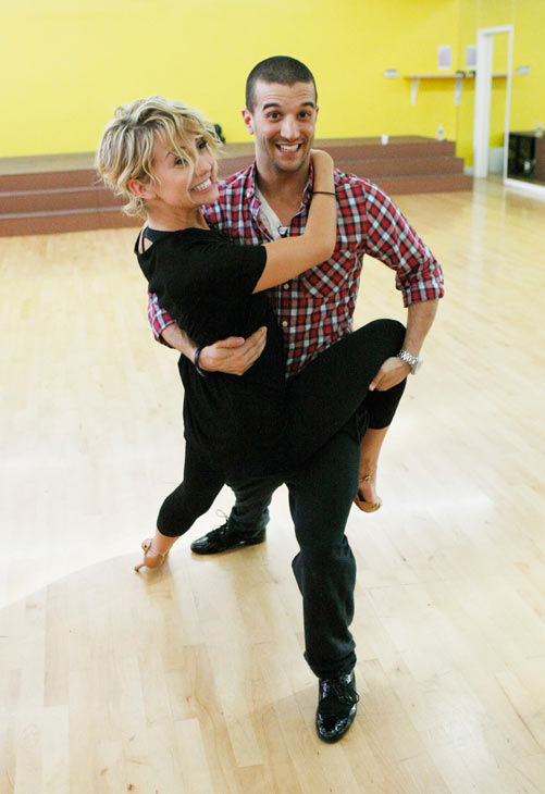 Chelsea Kane, star of &#39;The Homes&#39; web series and voice of Bea in Disney&#39;s &#39;Fish Hooks,&#39; shows off her moves with partner Mark Ballas during rehearsal for season 12 of &#39;Dancing with the Stars,&#39; premieres on March 21 at 8 p.m. on ABC. <span class=meta>(Photo&#47;Rick Rowell)</span>