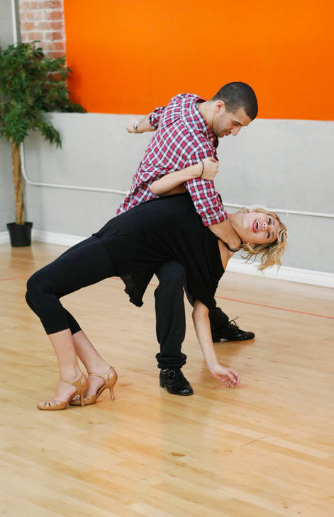 Chelsea Kane, star of &#39;The Homes&#39; web series and voice of Bea in Disney&#39;s &#39;Fish Hooks,&#39; gets dipped by partner Mark Ballas during rehearsal for season 12 of &#39;Dancing with the Stars,&#39; premieres on March 21 at 8 p.m. on ABC. <span class=meta>(Photo&#47;Rick Rowell)</span>
