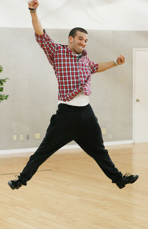 Chelsea Kane&#39;s partner Mark Ballas gets his jump on during rehearsal for season 12 of &#39;Dancing with the Stars,&#39; premieres on March 21 at 8 p.m. on ABC. <span class=meta>(Photo&#47;Rick Rowell)</span>