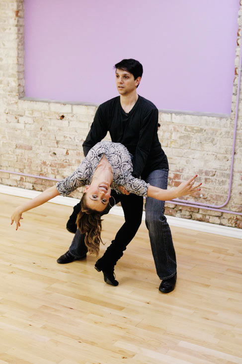 Ralph Macchio, star of the original &#34;The Karate Kid&#34; film, gets a low dip with partner Karina Smirnoff during rehearsal for season 12 of &#39;Dancing with the Stars,&#39; premieres on March 21 at 8 p.m. on ABC. <span class=meta>(Photo&#47;Rick Rowell)</span>