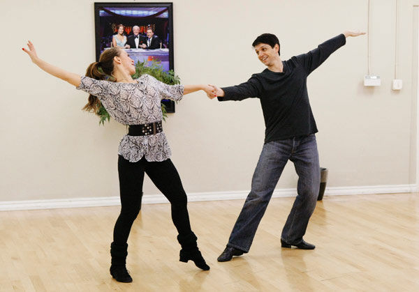 Ralph Macchio, star of the original &#34;The Karate Kid&#34; film, practices his grand finale with partner Karina Smirnoff during rehearsal for season 12 of &#39;Dancing with the Stars,&#39; premieres on March 21 at 8 p.m. on ABC. <span class=meta>(Photo&#47;Rick Rowell)</span>