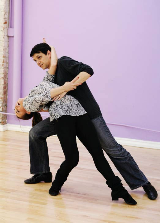 "<div class=""meta ""><span class=""caption-text "">Ralph Macchio, star of the original ""The Karate Kid"" film, dips his partner Karina Smirnoff during rehearsal for season 12 of 'Dancing with the Stars,' premieres on March 21 at 8 p.m. on ABC. (Photo/Rick Rowell)</span></div>"