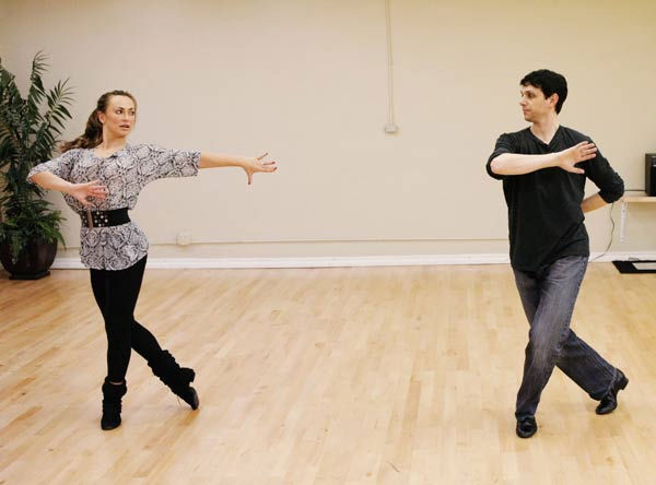 "<div class=""meta ""><span class=""caption-text "">Ralph Macchio, star of the original ""The Karate Kid"" film, gets his stance right with his partner Karina Smirnoff during rehearsal for season 12 of 'Dancing with the Stars,' premieres on March 21 at 8 p.m. on ABC. (Photo/Rick Rowell)</span></div>"