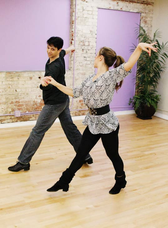 Ralph Macchio, star of the original &#34;The Karate Kid&#34; film, gets moving with his partner Karina Smirnoff during rehearsal for season 12 of &#39;Dancing with the Stars,&#39; premieres on March 21 at 8 p.m. on ABC.  <span class=meta>(Photo&#47;Rick Rowell)</span>