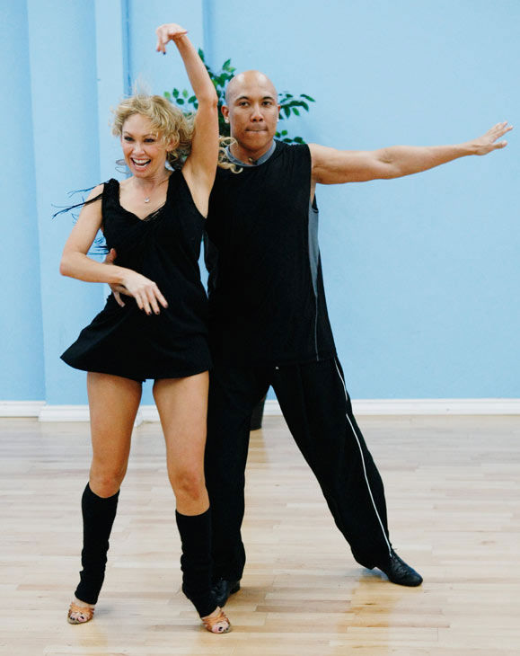 "<div class=""meta ""><span class=""caption-text "">Hines Ward, Steelers wide receiver and two-time Super Bowl Champion, practices his grand finale with his partner Kym Johnson during rehearsal for season 12 of 'Dancing with the Stars,' premieres on March 21 at 8 p.m. on ABC. (Photo/Rick Rowell)</span></div>"