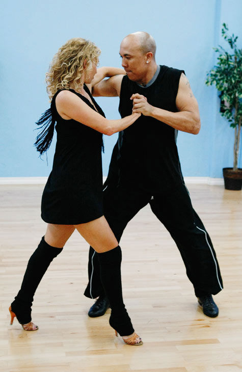 Hines Ward, Steelers wide receiver and two-time Super Bowl Champion, prepares for his dancing debut with his partner Kym Johnson during rehearsal for season 12 of &#39;Dancing with the Stars,&#39; premieres on March 21 at 8 p.m. on ABC. <span class=meta>(Photo&#47;Rick Rowell)</span>