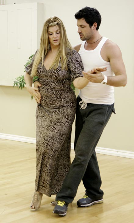 Kirstie Alley, Emmy and Golden Globe-winning actress, gets coordinated with her partner Maksim Chmerkovskiy during rehearsal for season 12 of &#39;Dancing with the Stars,&#39; premieres on March 21 at 8 p.m. on ABC. <span class=meta>(Photo&#47;Adam Taylor)</span>